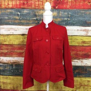 Lafayette 148 New York Red Jacket Size 8